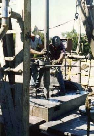 drilling an oil well